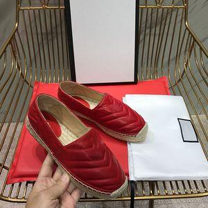 Piattaforma Casual Sandals Summer Moda Lettere Lettere Fisherman Shoes Laces Pelle Scarpe da donna Scarpe da donna Canapa Corda Paglia intrecciata con tappo Cap Casual Scarpe casual