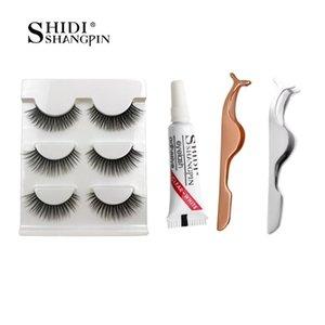 100% Real 3d Mink Lashes Natural Long Makeup False Eyelashes 10mm Eyelash Glue Make Up Eye Lashes Tweezers 3d Lashes Maquillaje jllOIa