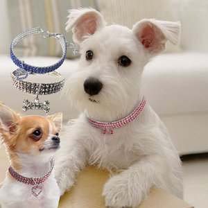 New Rhinestone Pet supplies Dog Cat Collar Crystal Puppy Chihuahua Collars Necklace For Small Medium large Dogs Diamond Jewelry Accessories