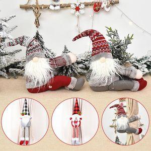 15 Art-Vorhang-Wölbung Tieback Sankt-Schneemann Vorhang Tiebacks Hindernis-Fastener Buckle Clamp Dekoration Weihnachtsschmuck