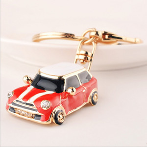 Mini Beetle Car Key Chain New metal Varied Key Holder Fashion Bag Charm Accessories Rhinestones Lovely Keychain
