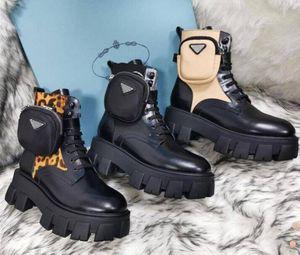Top Quality Rois Martin Boots Donne Ankle Genuine Pelle Military Combat Models Platform Bag Boots Stivali Triple Cowhide Moto Scarpe da moto