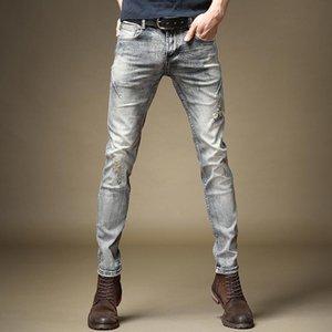 Guapo Men's Retro Envío Romado Otoño High-End 2020 Pantalones Trendy Slim-Fit Jeans Old Classic New Male Denim Pantalones Free Heqfe