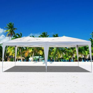 10x20Ft Wedding Party Tent 3x6m POP UP Outdoor Camping Waterproof Folding Gazebo Beach Canopy with Carry Bag Free Shipping
