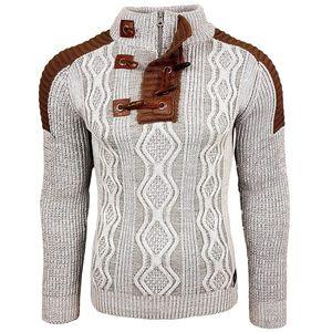 camisola de malha masculina Zogaa \ \ 124; rolo de pescoço camisola, hip hop inverno streetwear alto grau de camisola, de manga comprida