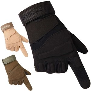 long eagle women's Men's black finger and gloves army fans weightlifting fighting tactical combat outdoor sports riding gloves