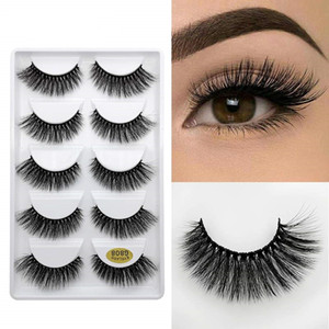 Eyelashes all'ingrosso crudeltà gratis Vegan Faux Visone ciglia 3D 4D 5D FAUX Mink Silk ciglia G808