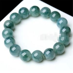 10mm 100% Natural A Grade Green Jade Jadeite Round Gemstone Beads Bracelet New 7.5''