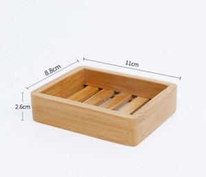 Dish Woodem Dish Natural Bambu Sabão Dishes Bandeja De Armazenamento De Armazenamento De Armazenamento De Sabão Placa Portátil Sabonetes Recipiente De Armazenamento De Banheiro Gee2041