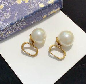 HB0823 HABE HABEN MACHEN Mode-Reifen Pearl-Ohrringe Aretes Orecchini für Frauen-Party-Hochzeitsliebhaber Geschenk-Schmuck-Engagement mit Kasten