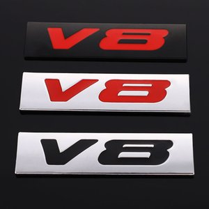 Coche V6 V8 Pegatinas para la insignia de metal Audi Emblem BMW Decal Ford Honda Toyota Suzuki Kia Accesorios Estilo Opel Auto Lexus Nissan Eqlxi