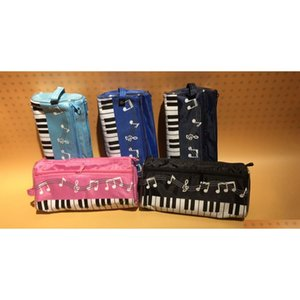 & sf _express music piano pencil case multi color waterproof cloth keyboard pencil bag factory price(2) A7nN4