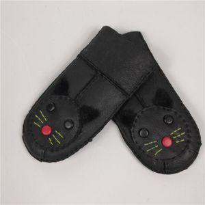 2020 Winter Boys Warm Gloves for Children Grils Genuine Leather Natural Fur Gloves Fingerless Mittens Kids Snow Ski