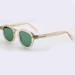 Lemtosh Johnny Depp Myopia sunglasses MaDamon sunglasses light yellow green progressive SPEIKO men women sun glass