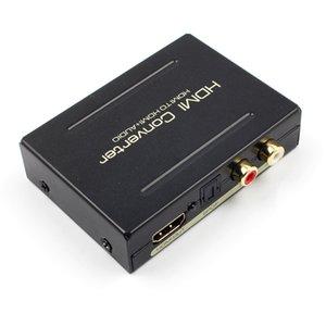 1080P HDMI-HDMI ottico SPDIF RCA analogico Audio Extractor Convertitore DC 5V Splitter sostegno L / R 2 canali surround 5.1