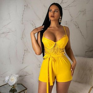 Women Ladies Clubwear Lace Holiday Mini Playsuit Bodycon Party Summer Beach Shorts Jumpsuit Romper Trousers Classic