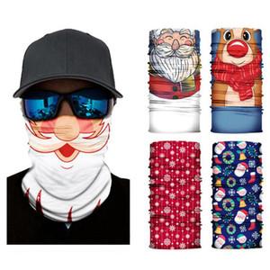 Açık Sorunsuz Magic Eşarp Kayak Noel Baba Elk Yarım Yüz Bandana Boyun Isıtıcı saç bandı Turban Noel Bisiklet Maske CYZ2891 Maske