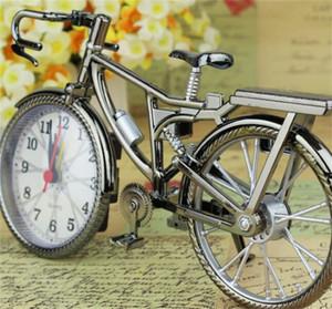طالب الأسرة الأزياء ساعة المعادن الرجعية دراجة على شكل المنبه المنبه المنزل تأثيث المنزل الديكور الأصالة جديد وصول 6 5YL J2