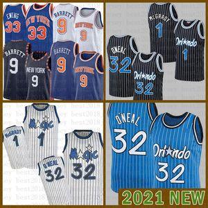 2021 Hommes Basketball Jersey OrlandoMagic Mens NouveauYorkKnicks 32 O'Neal RJ 9 Barrett Patrick 33 Ewing Penny 1 Hardaway Whit