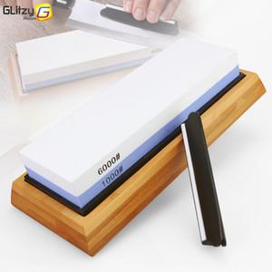 Knife Sharpener Stone Dual Side Whetstone Professional Kitchen Sharpening Grinder Oilstone 1000 6000# Honing Set
