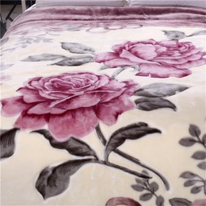 Super Soft Warm Fluffy Weighted Blanket Double Layer Raschel Mink Blanket For Double Bed Winter Bed Linens Thick Blanket 201128