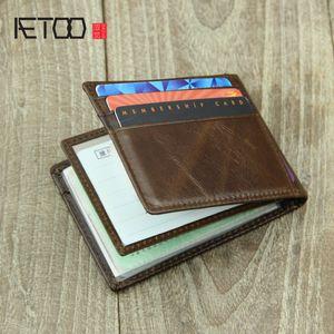 Hbp Aetoo Head Leather Driver's License Funda, billetera de licencia de conducir de Doka Bit delgada