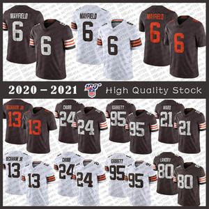 95 Myles Garrett ClevelandBrown Fußball JerseyBrowns 6 Baker Mayfield 24 Nick Chubb 80 Jarvis Landry Denzel Ward Odell Beckham Jr