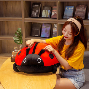 80cm 60 40cm  cute plush toy soft colorful ladybug ladybird insect doll pillow cushion children birthday gift