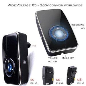 Doorbells Wireless Doorbell No Battery Smart EU US UK Plug Water Proof Remote Door Bell 150m Remote1