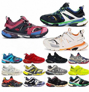 2021 Pista 3.0 Newest Athletic Athletic 3m Triple S Sport Zapatos Comparar Zapatillas de deporte 18ss Shoes Similares Hombres Mujeres Diseñador Tamaño 36-45 V1L1 #
