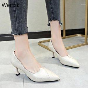 Wertzk CPI Summer Heel Tacchi alti Sandali Lady Pumps Classici Slip on Shoes Shoes Sexy Donne Party Shoes Slingback da sposa B3561