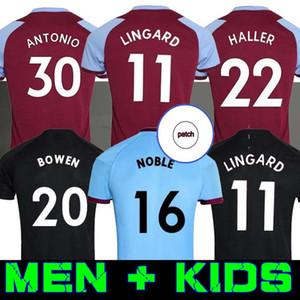 Мужчины дети 20 21 ветчина Домашняя футбола трикотажа 2020 2021 черный Lanzini Antonio Bowen 125-летие футболки футболки Лингард Западные майки