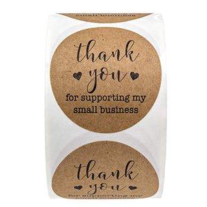 500 шт. 2 дюймов Kraft Paper Спасибо за поддержку моих маленьких бизнес-клей наклейки подарочные коробки