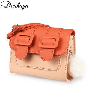 DICIHAYA 2020 PU New Mini Bag All-Gleiche kleine Tasche Platz Weibliche Frauen-Schulter-Kurier-Patchwork