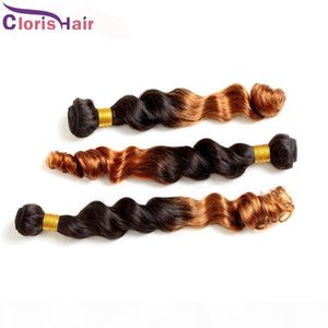Deux Ton 1B 30 Ombre Weave Loable Wave Indian Remi Remi Remi Human Cheveux Bundles pas chers Roots sombres Blonde Curly Ombre EXTENDUES DE CHEVEUX THEFT