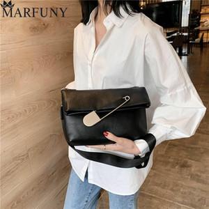 Summer Pin Decor Crossbody Bags For Women PU Leather Female Messenger Bag Luxury Designer Purse And Handbags Sac A Main Femme