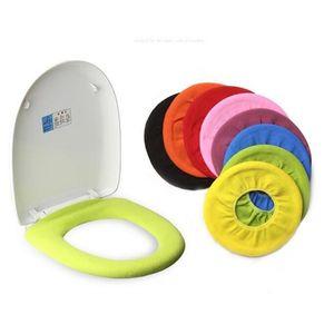 Warm Soft Toilet Cover Seat Lid Pad Bathroom Closestool Protector Accessories Set Mat