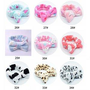 Coral Fleece Bow Headbands for Women Girls Lavado Face Maquillaje Cabello Holder Hairbands Head Bands Headwear Accesorios para el cabello 1pc q Sqccel