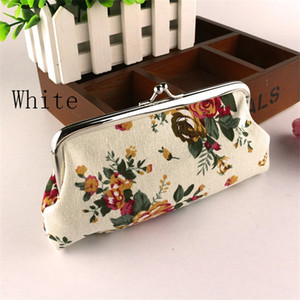 Fashion Women Hasp Coin Purse Large Rose Printed Canvas Long Handbags Single Layer Mobile Phone Id Card Key Pouch In Stock 4ls E1