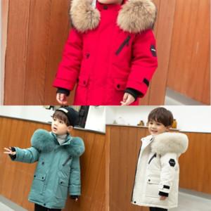 UKD Kids Down Clothes Winter Hooded Outerwear Boy Girl Long Sleeve Down Ear Solid jacket down child Jacket Designer Coat Children Cute