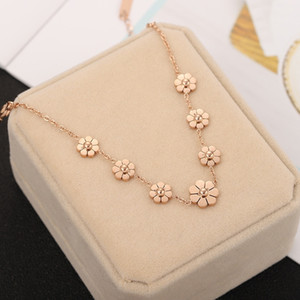 Anklet titanium Korean same gold 18K ornament ankle Taigang steel Daisy TikTok accessories Internet celebrity rose style hipster z6b9l