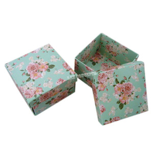 DIY Folded Square Cardboard Party Favor Box Wedding Candy Package - 6.3 x 6.3 x 4.3cm green 100pcs lot free shipping LWB0165