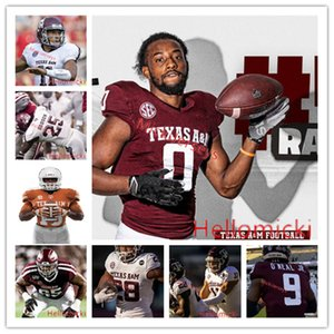 Custom Texas am Eggies Football Jersey 11 Kellen Mond 13 Haynes King 6 Devon Achane 28 Isaiah Spiller 17 Jaylon Jones Texas Am Jersey