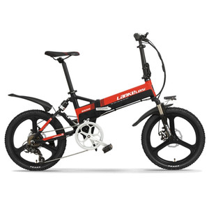 "S CE Certificate LANKELEISI High Quality 20"" inch 48V 400W 13AH L G Battery Folding Electric Bike 20 inch Folding E-bike"