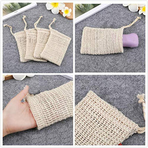 Fashion Nice Natural Ramie Shower Exfoliator Sponge Pouch Net Comfortable Bubble Blister Mesh Soap Saver Foaming Bag