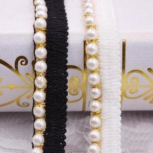 10 yards DIY Accessoires Perle Spitze Ribbon Quaste Baumwolle Massierer Trimmen Fransen Für Nähen Bett Blech Kleidung Vorhang Dekoration H JLLHML