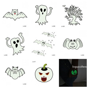 Pumpkin Ghost Printing Decoration Tattoo Sticker Halloween Party Night Glow Stickers Prop Man And Women Fashion Different Design 0 5jmH1