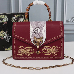 Bolsos de mano caliente de la cadena SOLDS para mujer bolsos de cuero genuinos real bolsos de hombro del bolso de la manera del Fox del envío