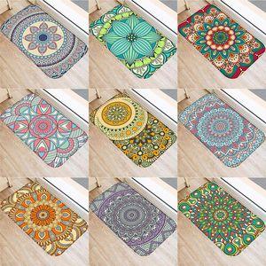 Mandala Doormat Geometry Patte Fashion Mats Entrance Doormats Washable Kitchen Mats for Home Floor Bathroom