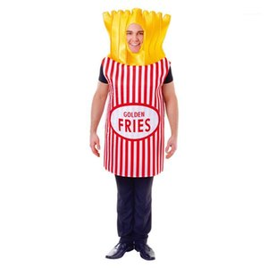 French Fries Pizza Cosplay Mens Funny Party Dress Halloween Theme Costume